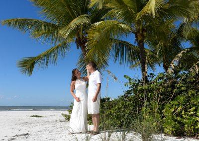tropical barefoot wedding